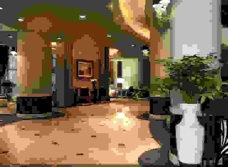 living الممر الحديث، المدخل و الدرج من smarthome حداثي