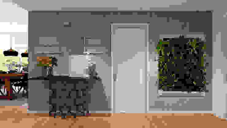 Hall Apartamento Corredores, halls e escadas industriais por Donna - Exclusividade e Design Industrial