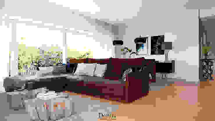 Sala Apartamento Salas de estar industriais por Donna - Exclusividade e Design Industrial