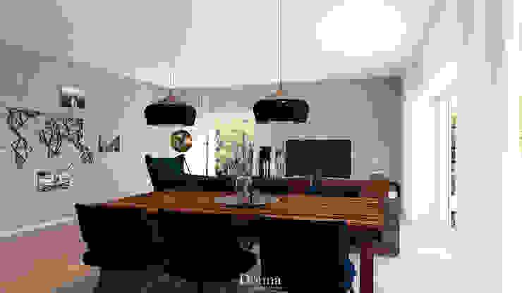 Sala de Jantar Apartamento Salas de jantar industriais por Donna - Exclusividade e Design Industrial