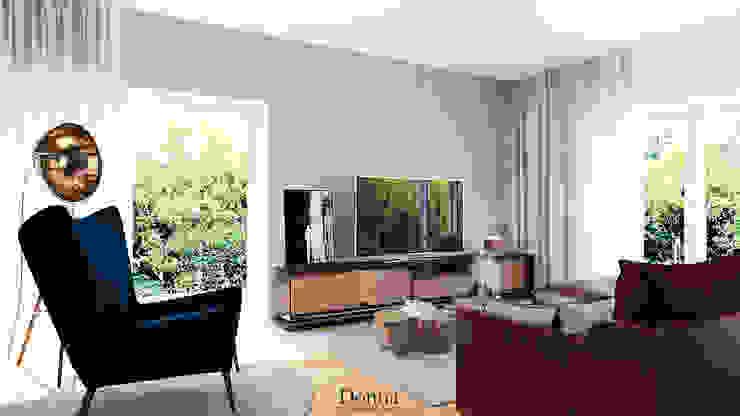 Sala de estar Apartamento Salas de estar industriais por Donna - Exclusividade e Design Industrial