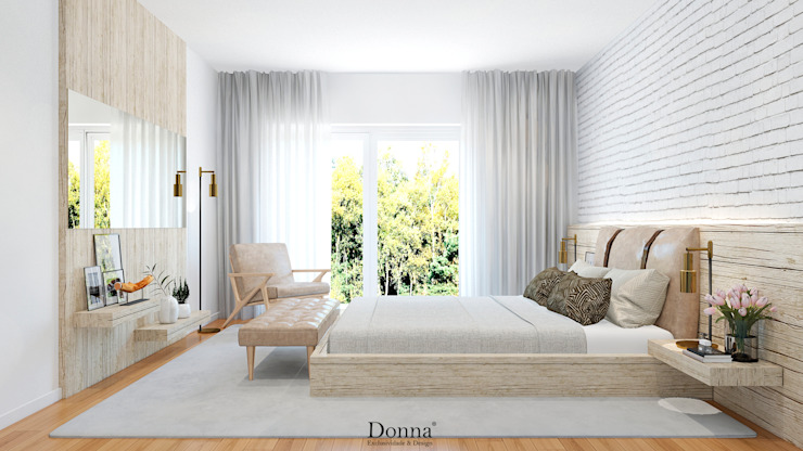 Donna - Exclusividade e Design Industrial style bedroom