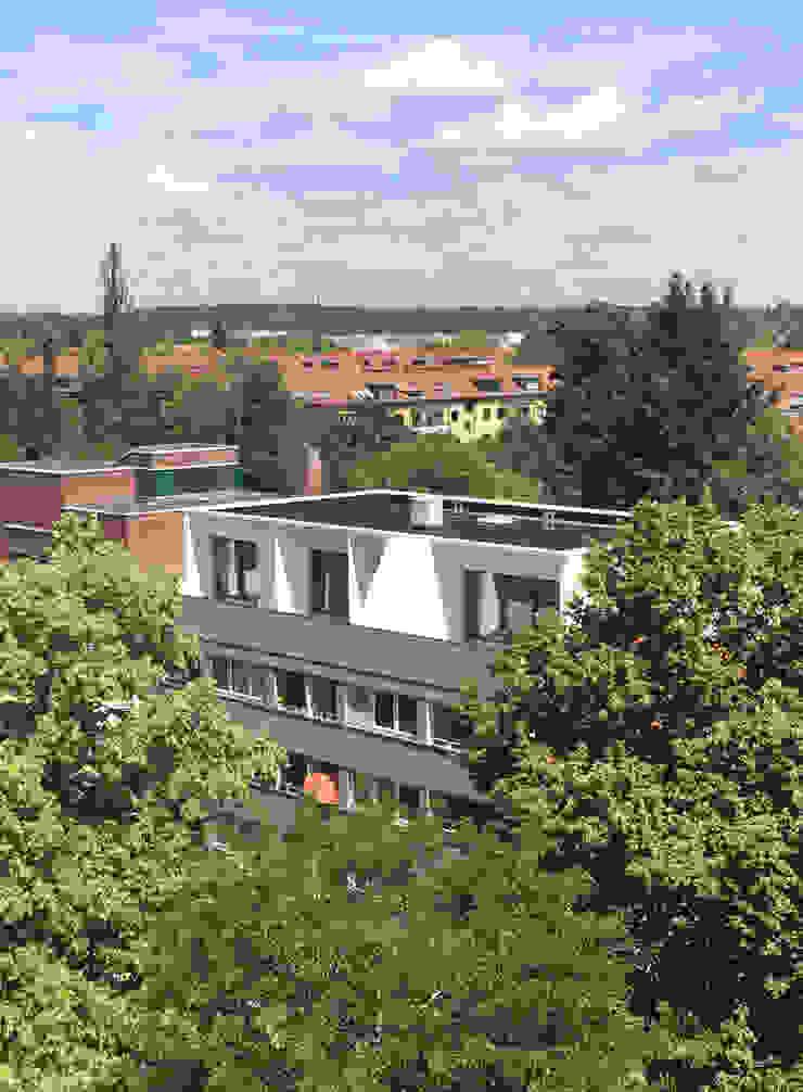 Kontraste boehning_zalenga koopX architekten in Berlin Ausgefallene Häuser Weiß