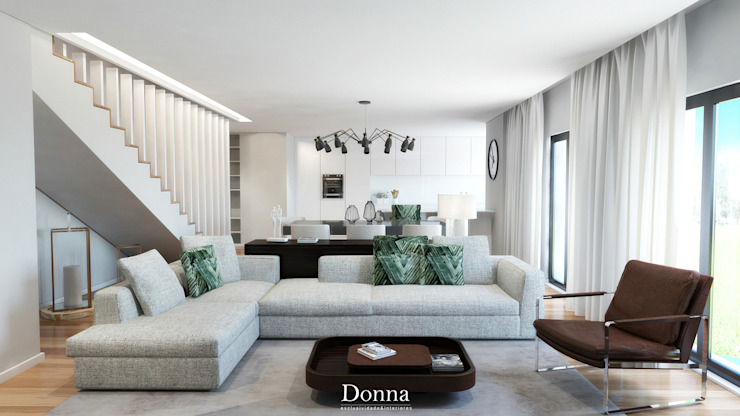 Sala de estar  por Donna - Exclusividade e Design