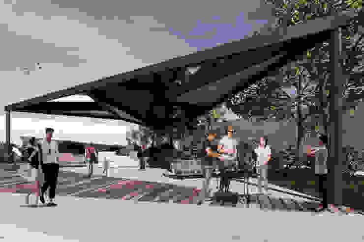 RESIDENCIAL KOATL Balcones y terrazas minimalistas de G._ALARQ. Minimalista