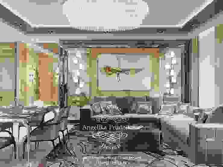 Livings modernos: Ideas, imágenes y decoración de Дизайн-студия элитных интерьеров Анжелики Прудниковой Moderno