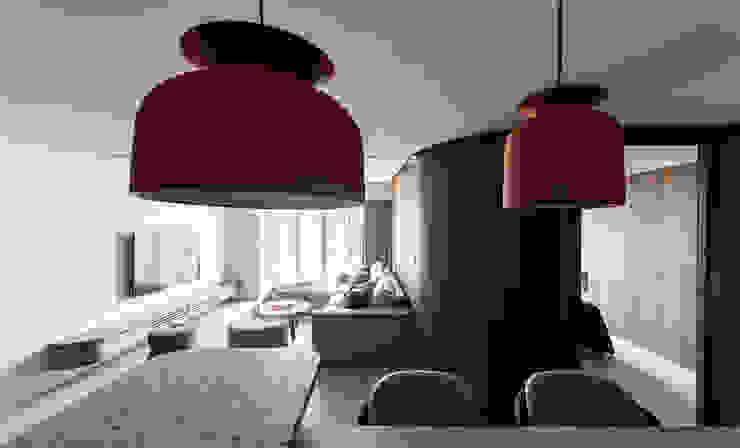 Livings de estilo moderno de 湜湜空間設計 Moderno