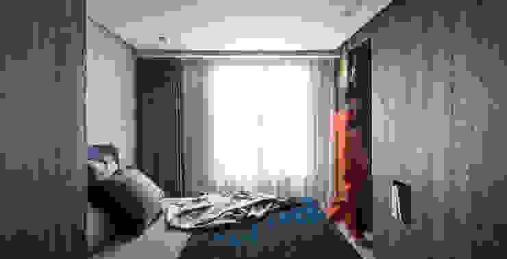 Dormitorios de estilo moderno de 湜湜空間設計 Moderno