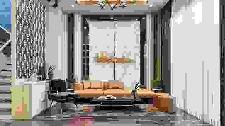 Mẫu thiết kế nội thất nhà phố hiện đại cao cấp 2019: hiện đại  by NEOHouse, Hiện đại