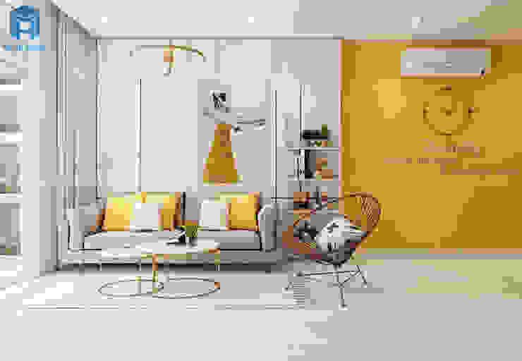 Công ty TNHH Nội Thất Mạnh Hệ Modern living room Solid Wood Yellow