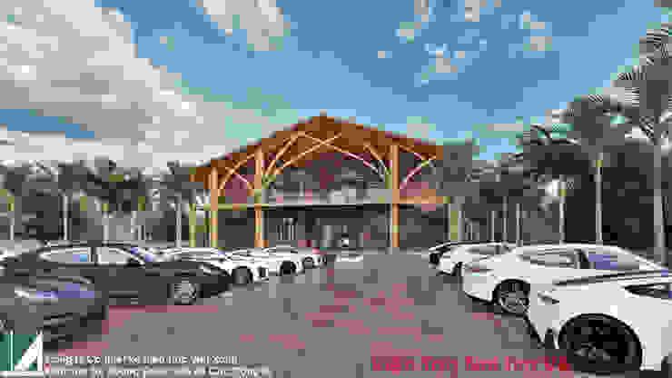 PHƯƠNG ÁN THIẾT KẾ KIẾN TRÚC NHÀ HÀNG 2 TẦNG bởi Kiến trúc Việt Xanh