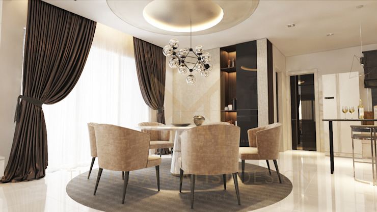 LAMAN HIJAU LOT 32, PRIVATE RESIDENT Modern dining room by THE MAXIMALIST DESIGN Modern Plywood