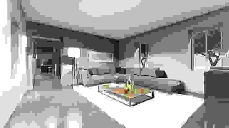 STUDIO ARCHITETTURA SPINONI ROBERTO Minimalist living room