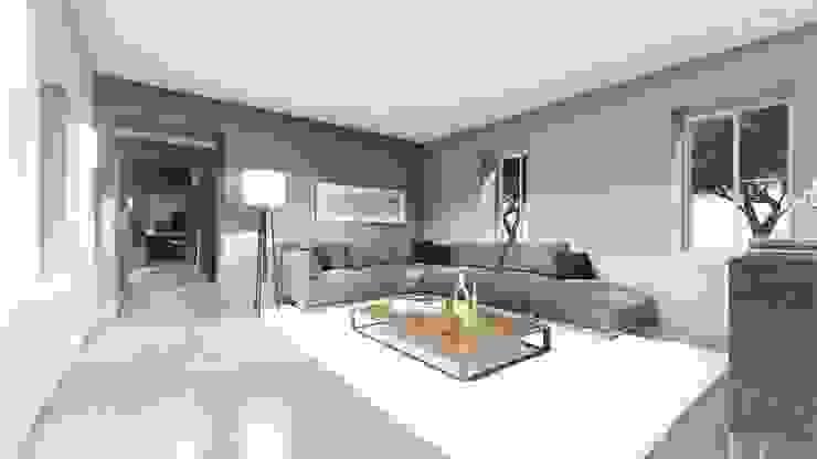 STUDIO ARCHITETTURA SPINONI ROBERTO Rustic style living room