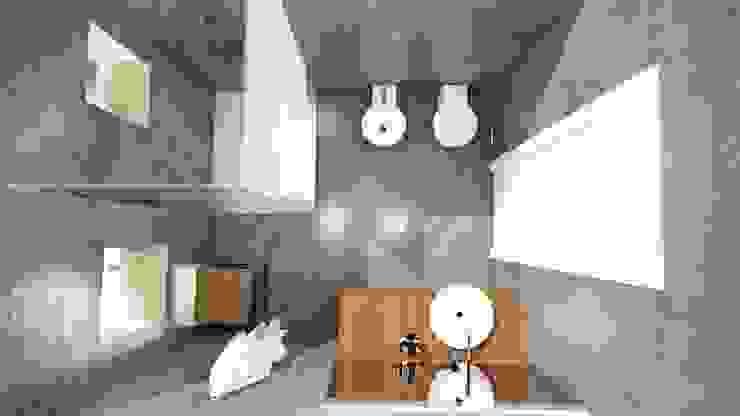 STUDIO ARCHITETTURA SPINONI ROBERTO Rustic style bathroom