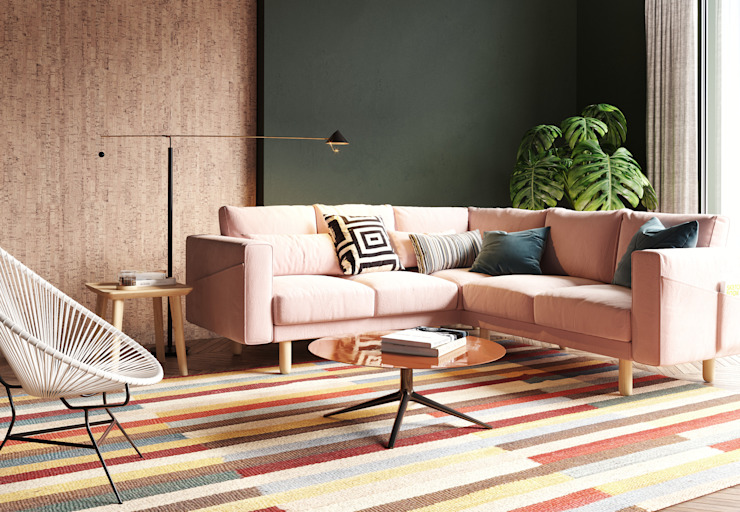 Colorful living room by Go4cork Modern Cork