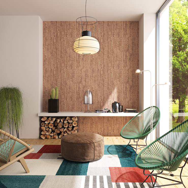 Colorful welcome room Modern living room by Go4cork Modern Cork