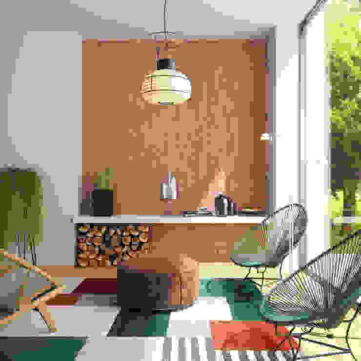 Entrada colorida Salas de estar modernas por Go4cork Moderno Cortiça