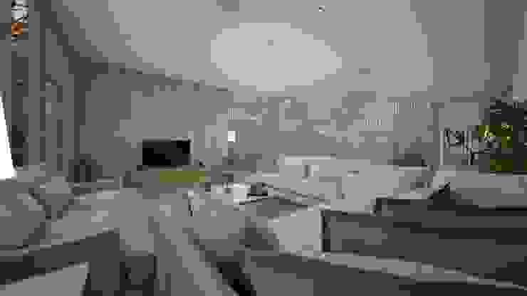 Гостиная в стиле модерн от عبدالسلام أحمد سعيد Модерн