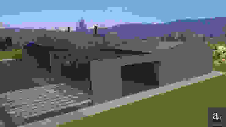 Vivienda en piedra Casas de estilo mediterráneo de arQmonia estudio, Arquitectos de interior, Asturias Mediterráneo Piedra