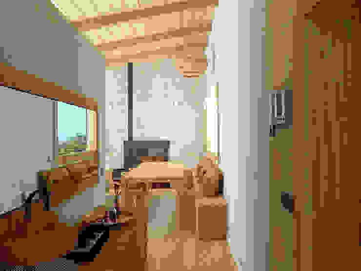Una vivienda muy luminosa. Pasillos, vestíbulos y escaleras de estilo mediterráneo de arQmonia estudio, Arquitectos de interior, Asturias Mediterráneo