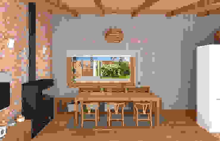 Un rincón muy acogedor Comedores de estilo mediterráneo de arQmonia estudio, Arquitectos de interior, Asturias Mediterráneo