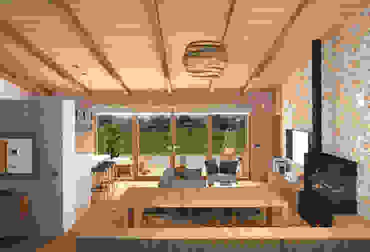 Comer con los ojos Salones de estilo mediterráneo de arQmonia estudio, Arquitectos de interior, Asturias Mediterráneo