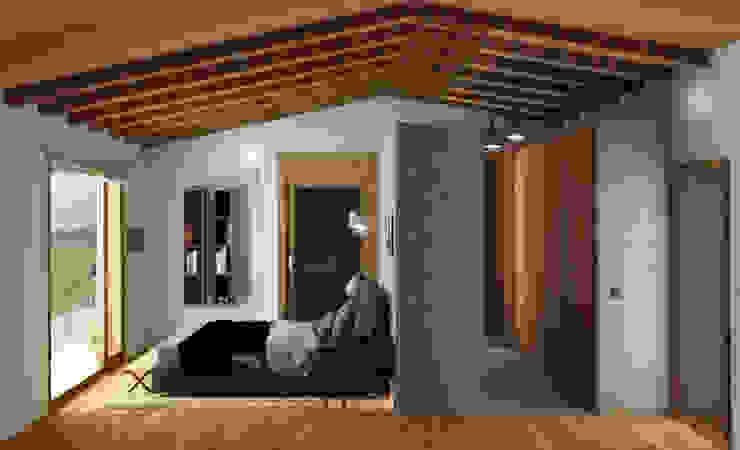 Acceso por el vestidor Dormitorios de estilo mediterráneo de arQmonia estudio, Arquitectos de interior, Asturias Mediterráneo