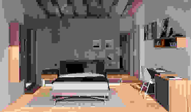 Mediterranean style bedroom by arQmonia estudio, Arquitectos de interior, Asturias Mediterranean