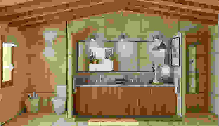 Un baño bien organizado Baños de estilo mediterráneo de arQmonia estudio, Arquitectos de interior, Asturias Mediterráneo