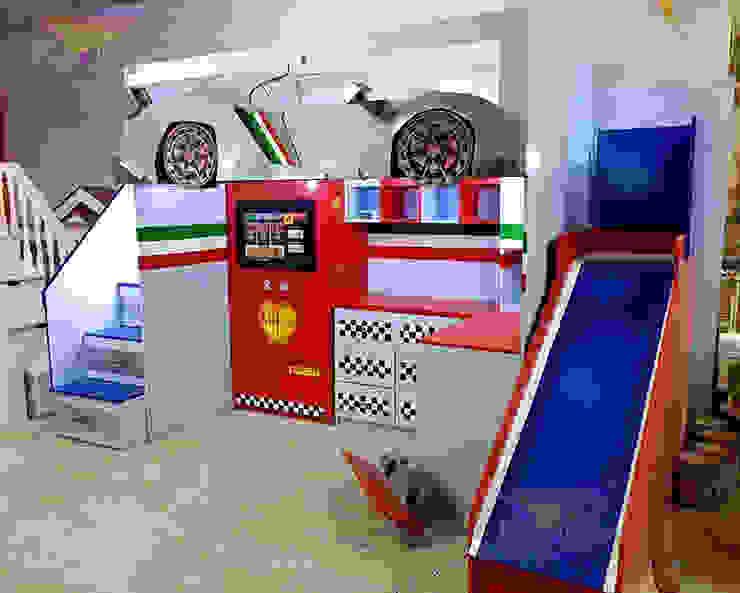 Fabulosa cama alta de Lamborghini de Kids Wolrd- Recamaras Literas y Muebles para niños Moderno Derivados de madera Transparente
