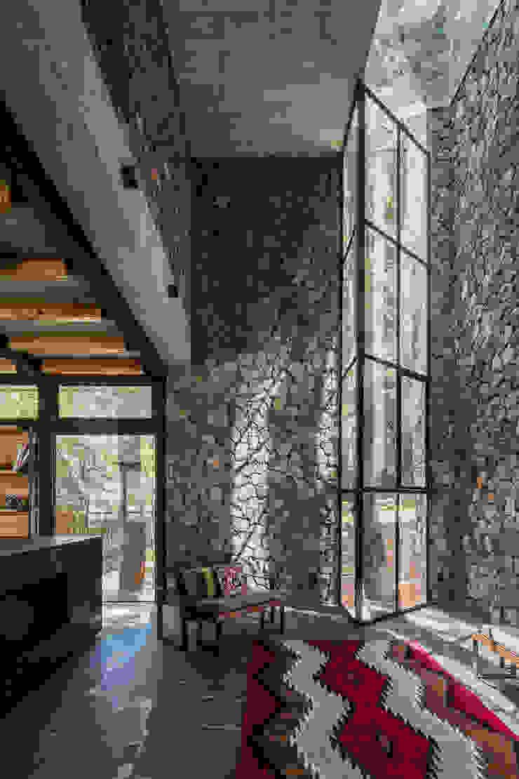 Saavedra Arquitectos 现代客厅設計點子、靈感 & 圖片 石器 Grey