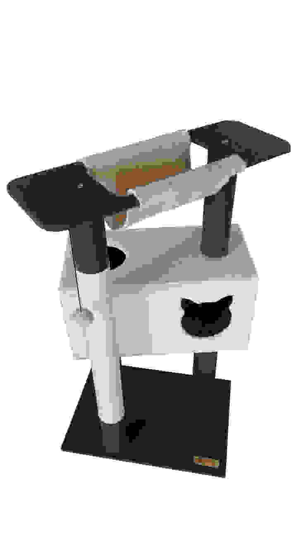 Gimnasio para gatos, referencia Fuji de ModuCat Estructuras modulares para gatos Moderno Madera Acabado en madera