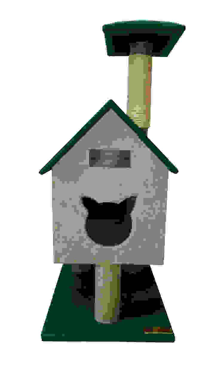 Gimnasio para gatos, referencia Cabaña del rio de ModuCat Estructuras modulares para gatos Moderno Madera Acabado en madera