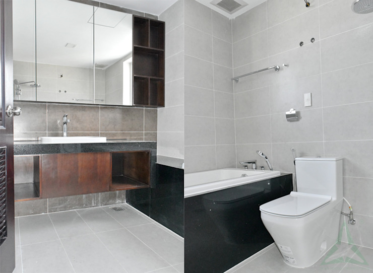 CĂN HỘ THE RIVERSIDE RESIDENCE QUẬN 7 Phòng tắm phong cách hiện đại bởi VAN NAM FURNITURE & INTERIOR DECORATION CO., LTD. Hiện đại