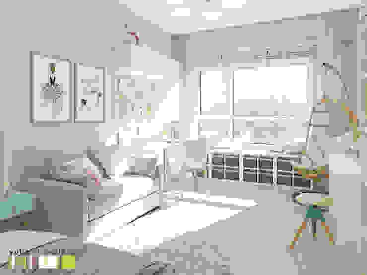 Клевер парк: Детские комнаты в . Автор – Мастерская интерьера Юлии Шевелевой, Эклектичный