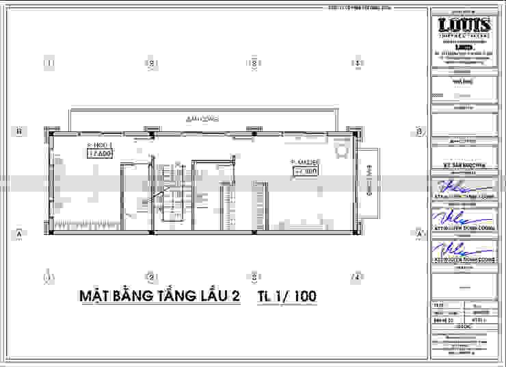 NHA PHO 4 TANG TAN CO DIEN DANG CAP VOI LOI THE 3 MAT TIEN TAI BEN TRE bởi Công Ty Thiết Kế Xây Dựng LOUIS