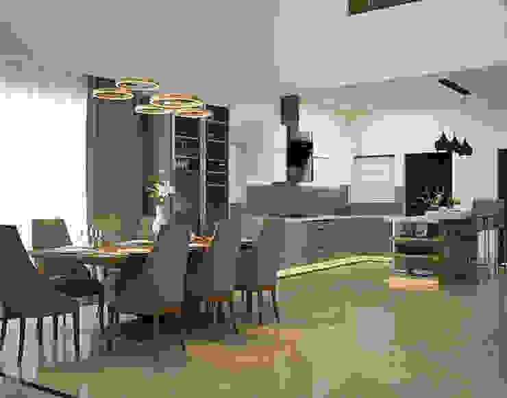 residential Inland Indoors Modern kitchen