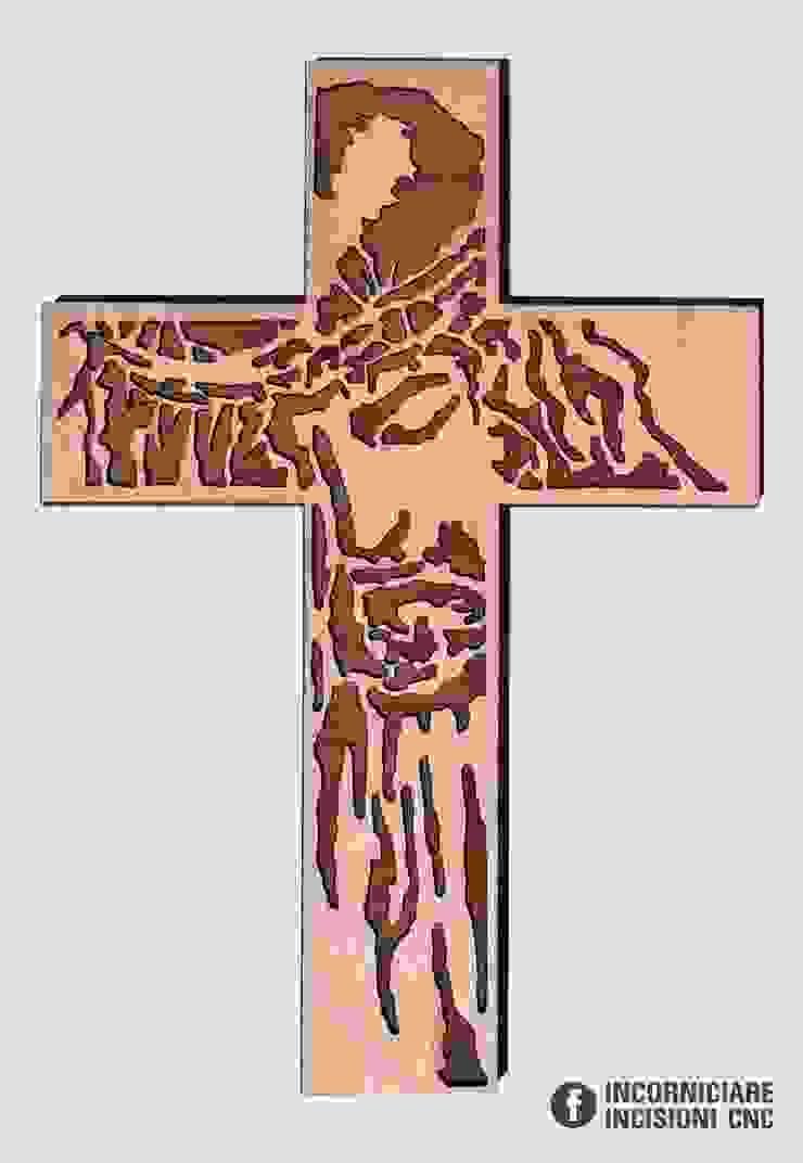 Volto Santo di Gesù Croce in legno okumè di INCORNICIARE Mediterraneo Legno composito Trasparente