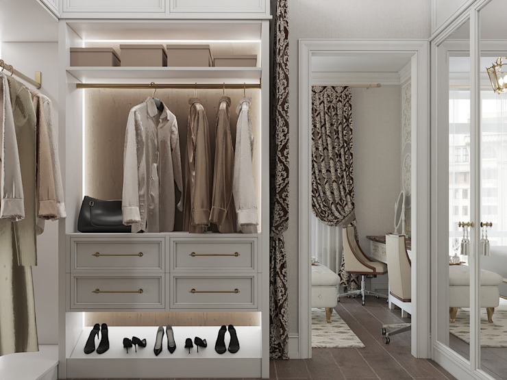 «Студия 3.14» Classic style dressing rooms
