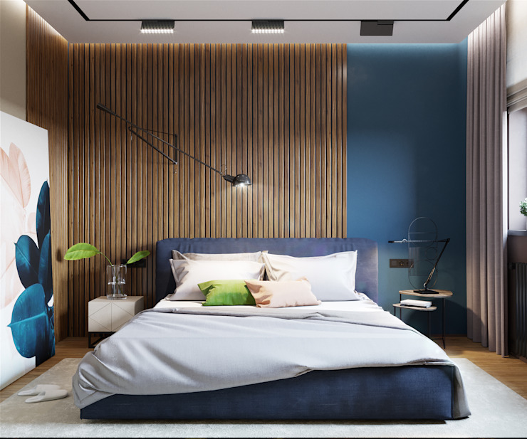 «Студия 3.14» Minimalist bedroom