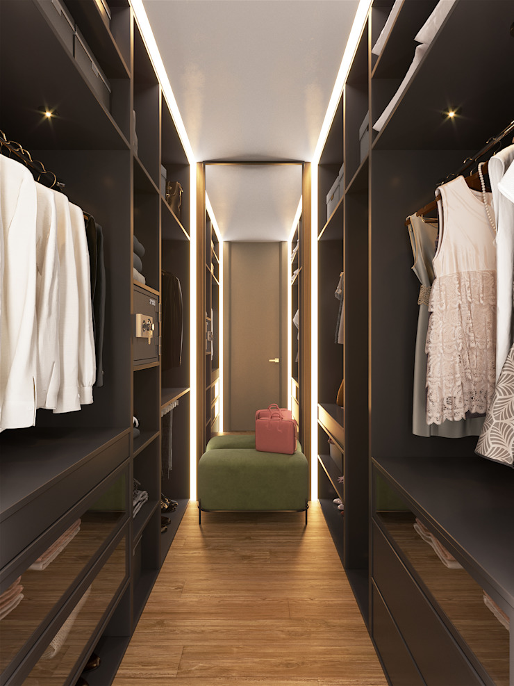 Minimalist dressing room by «Студия 3.14» Minimalist