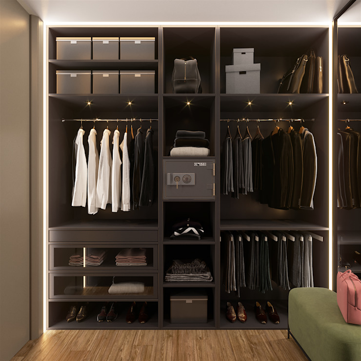 «Студия 3.14» Minimalist style dressing rooms