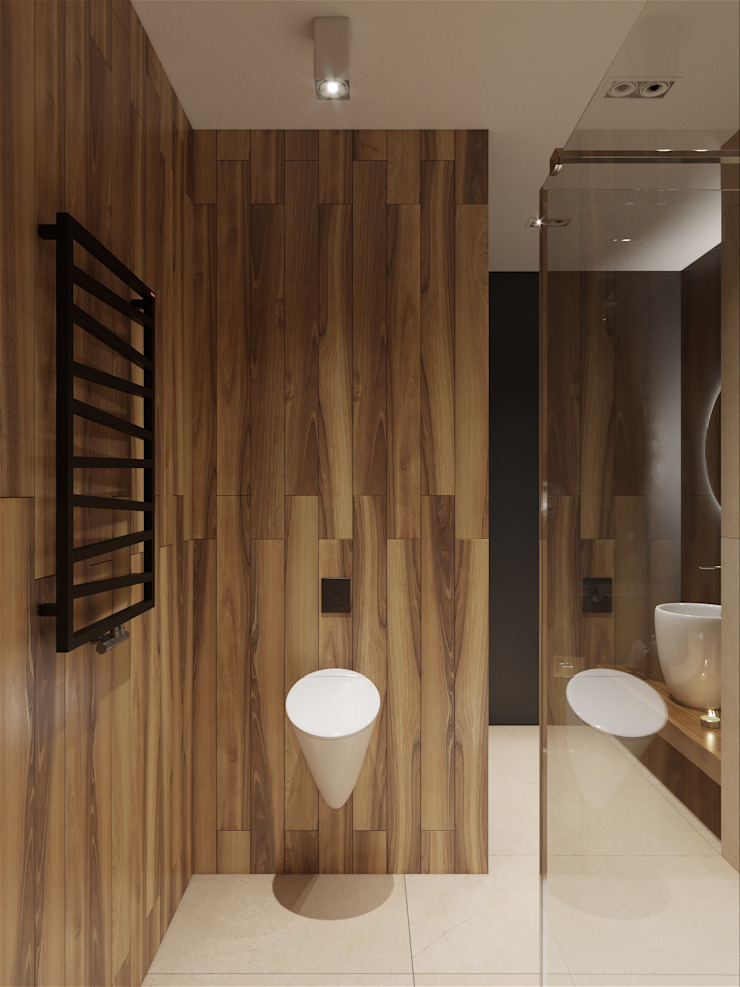 «Студия 3.14» Minimalist style bathrooms