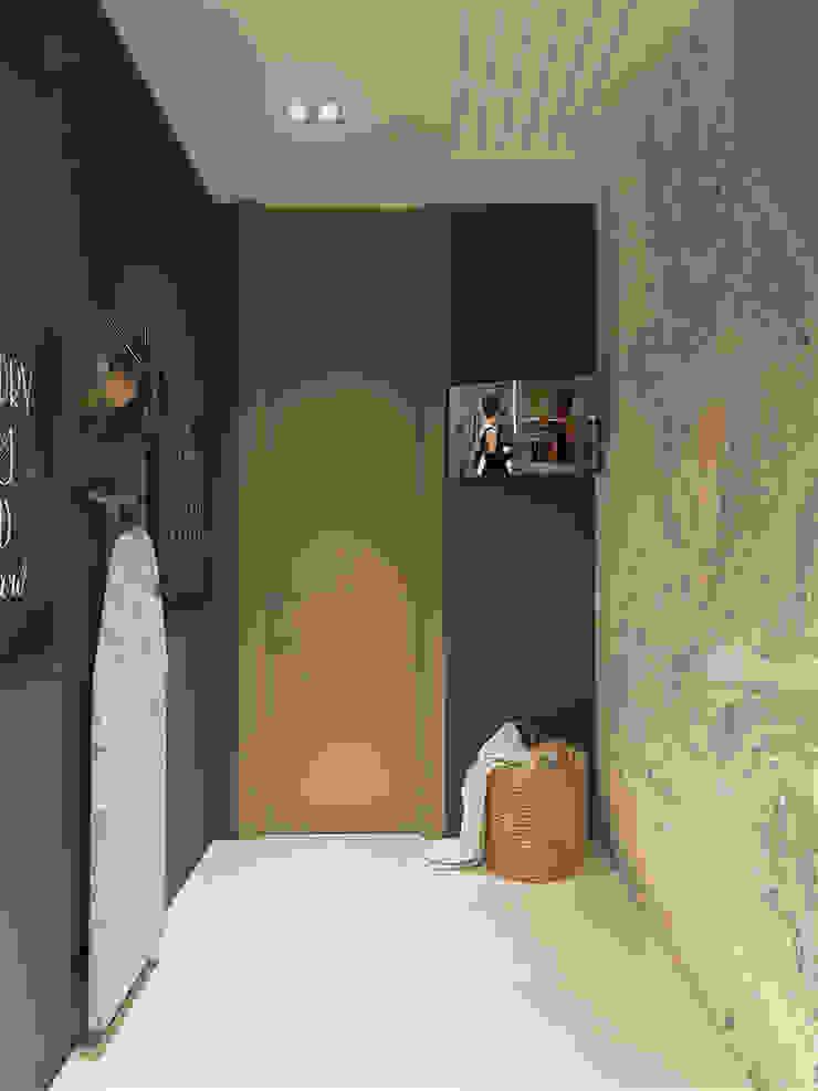 Minimalist corridor, hallway & stairs by «Студия 3.14» Minimalist