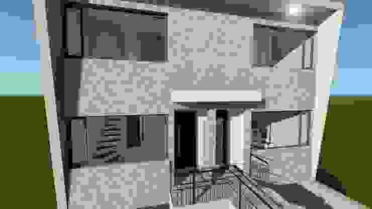 acceso Casas modernas de ebconstrucciones Moderno