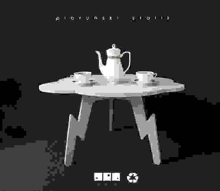 bgdesign Living roomSide tables & trays White