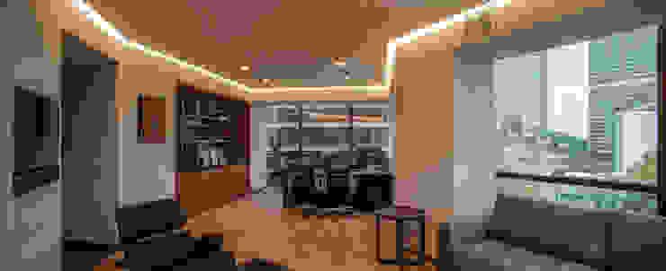 Oficina privada Estudios y despachos clásicos de TALLER GRADO 13 ARQUITECTURA Clásico Madera Acabado en madera