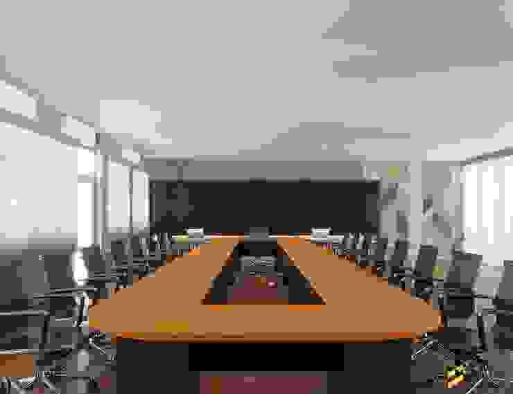 ผลงานการออกแบบ ห้องประชุม กรมชลประทานที่ 5 จังหวัดอุดรธานี ค่ะ: ทันสมัย  โดย Bcon Interior , โมเดิร์น