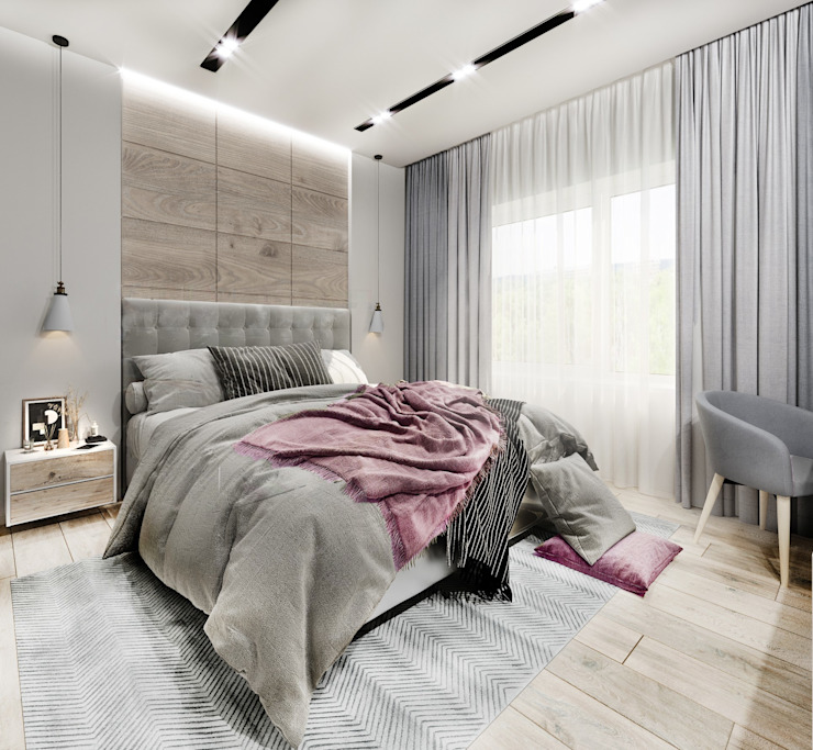 Scandinavian style bedroom by DesignNika Scandinavian
